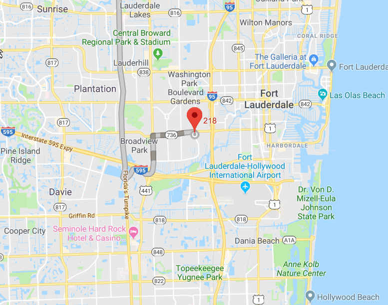 Ft. Lauderdale map